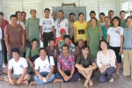 Participants of a community consultation meeting in Aruk