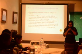 In a consultation of Parliamentary Caucus of Indigenous Peoples with Gender experts  on Draft Indigenous Peoples Rights Act in Dhaka 2012